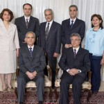 Members of the national coordinating group of the Iranian Baha'i community