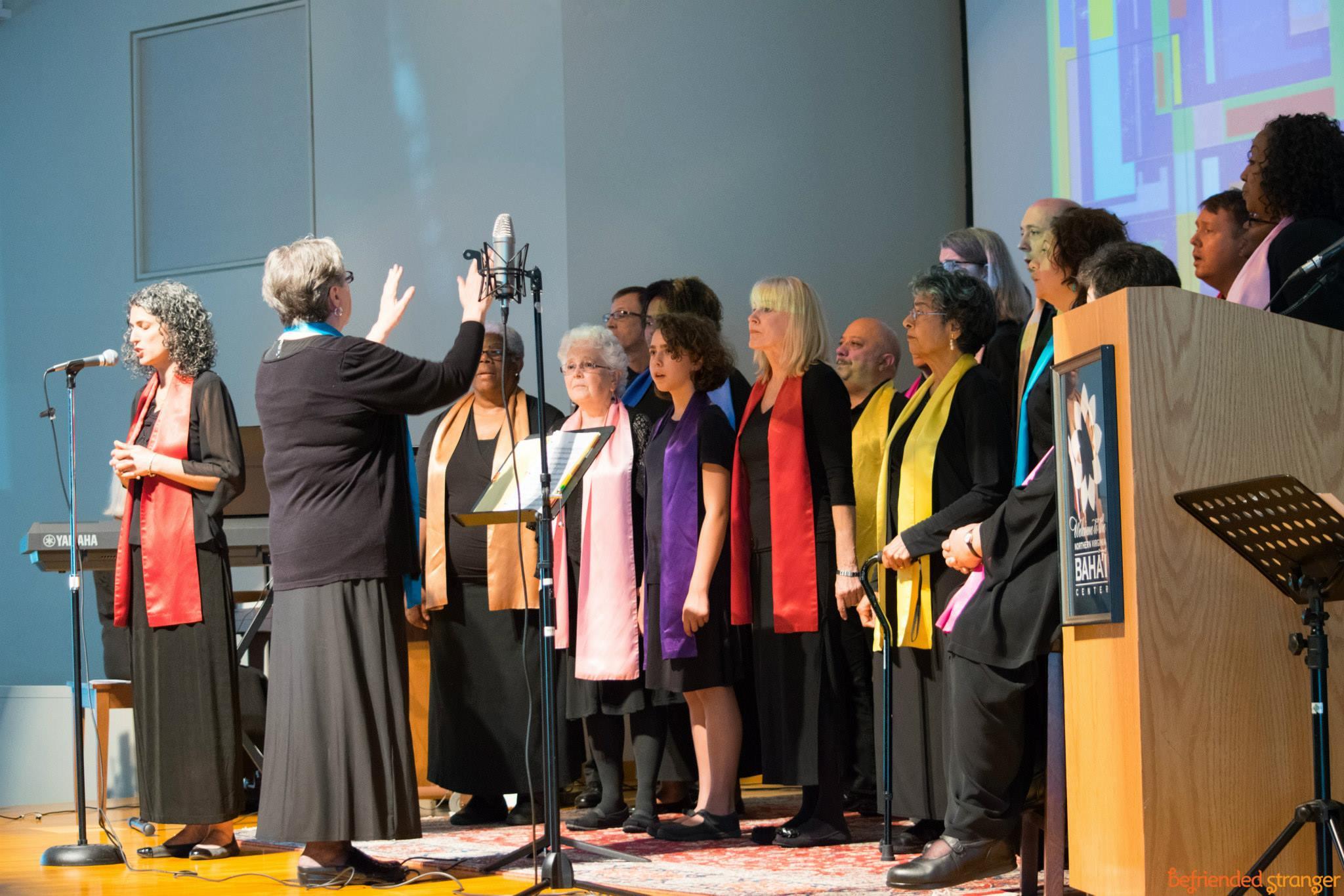 Arlington Baha'is Sing with the Metropolitan Washington Baha'i Chorale