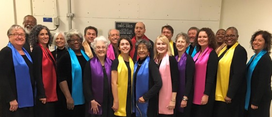 The Metropolitan Washington Baha'i Chorale before a recent performance